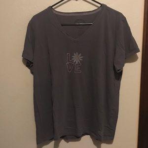 Life is good 'love' T-shirt
